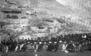1.Балкарское общество. Торжественный молебен в поселке Чете-Эль. На заднем плане поселок Кюнлюм.